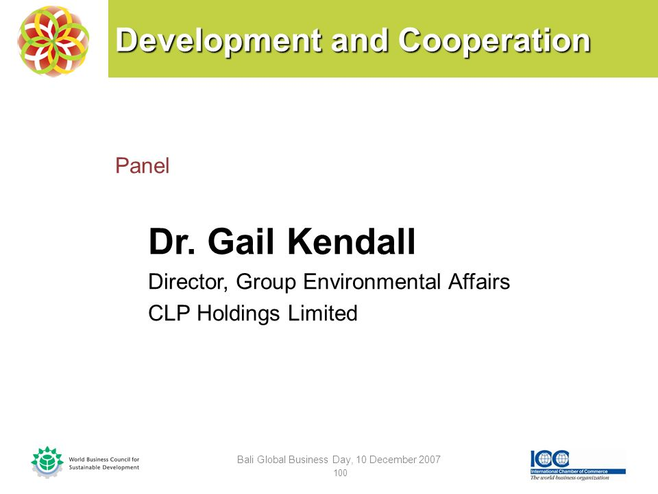 Development and Cooperation Panel Dr.