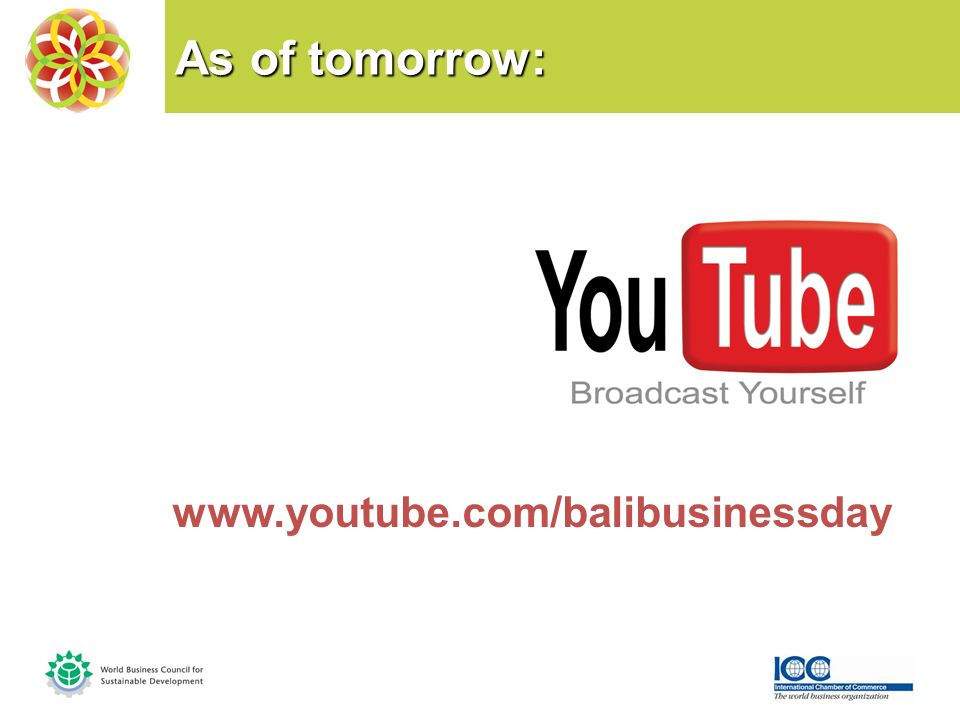 As of tomorrow: www.youtube.com/balibusinessday