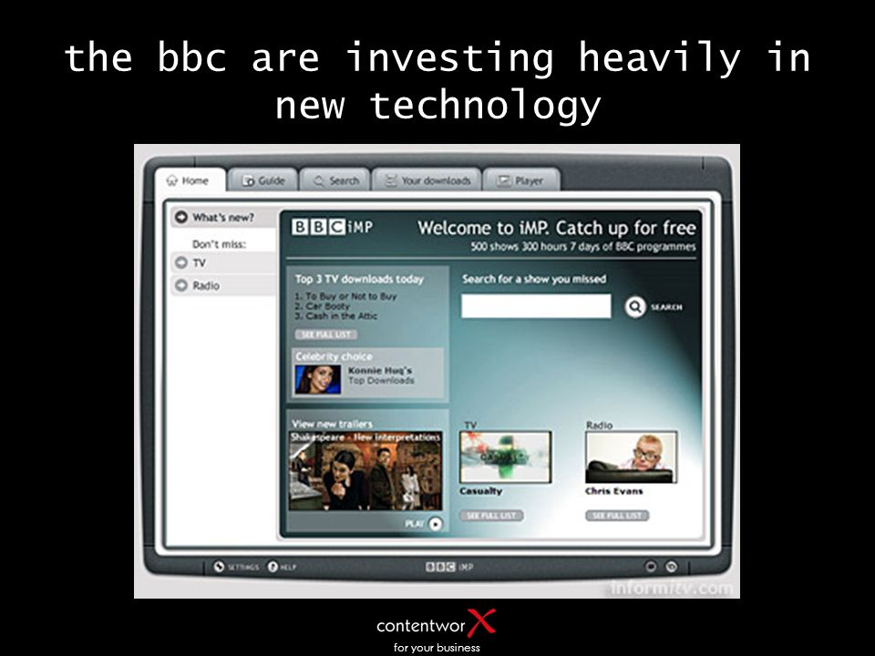 for your business the bbc are investing heavily in new technology