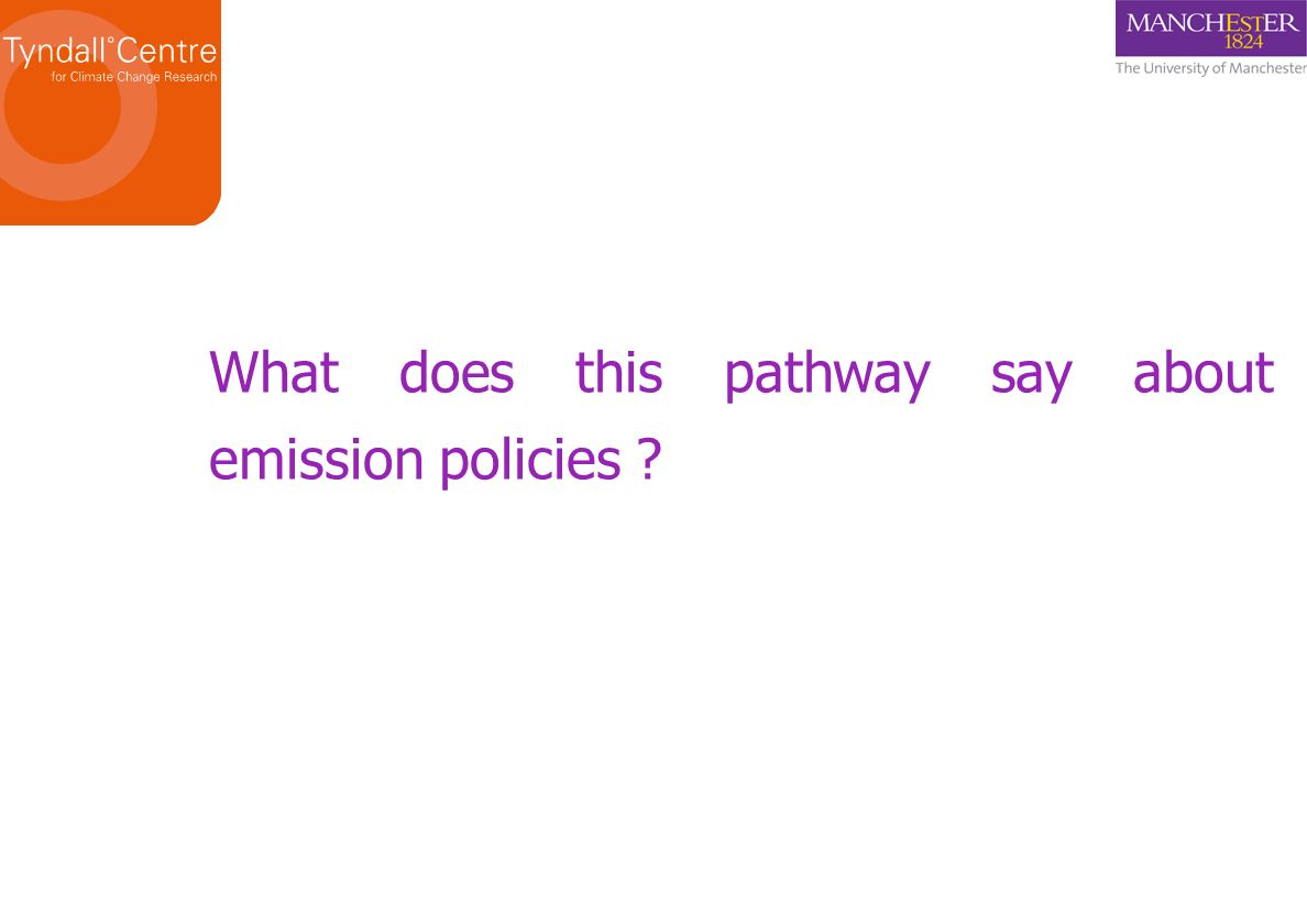 What does this pathway say about emission policies