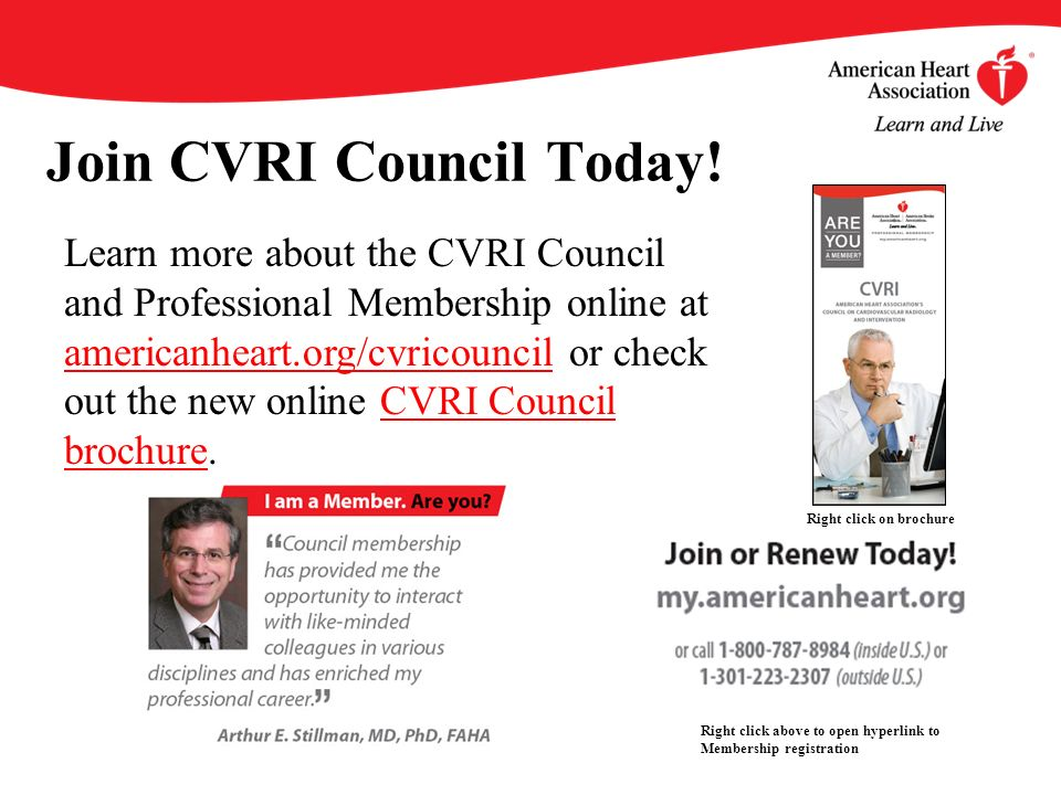 Join CVRI Council Today.