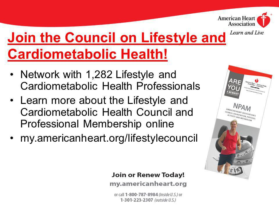 Join the Council on Lifestyle and Cardiometabolic Health.