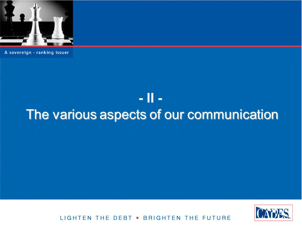 11 The various aspects of our communication - II - The various aspects of our communication
