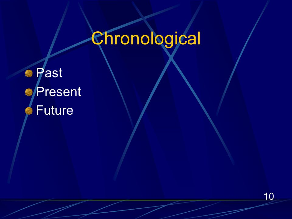 10 Chronological Past Present Future