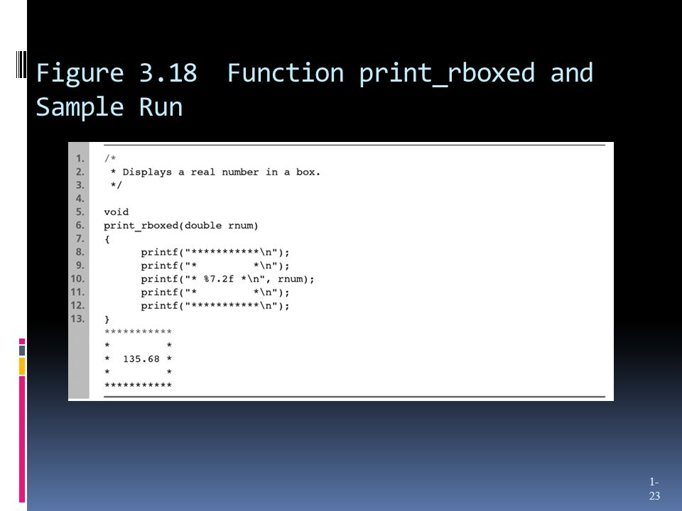 Figure 3.18 Function print_rboxed and Sample Run 1- 23