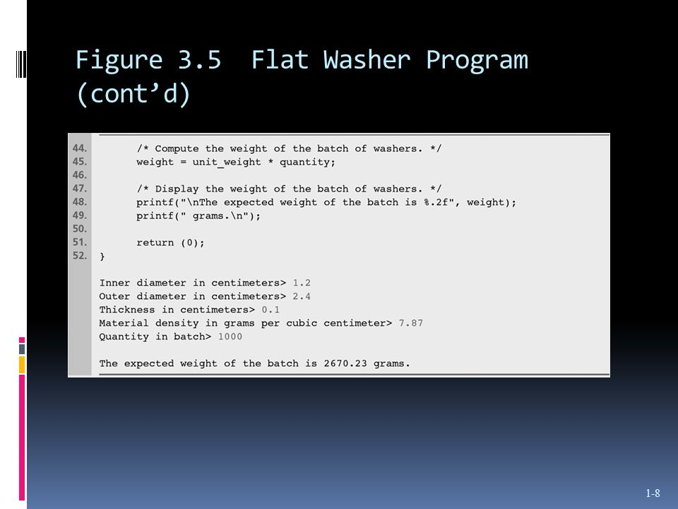 Figure 3.5 Flat Washer Program (contd) 1-8
