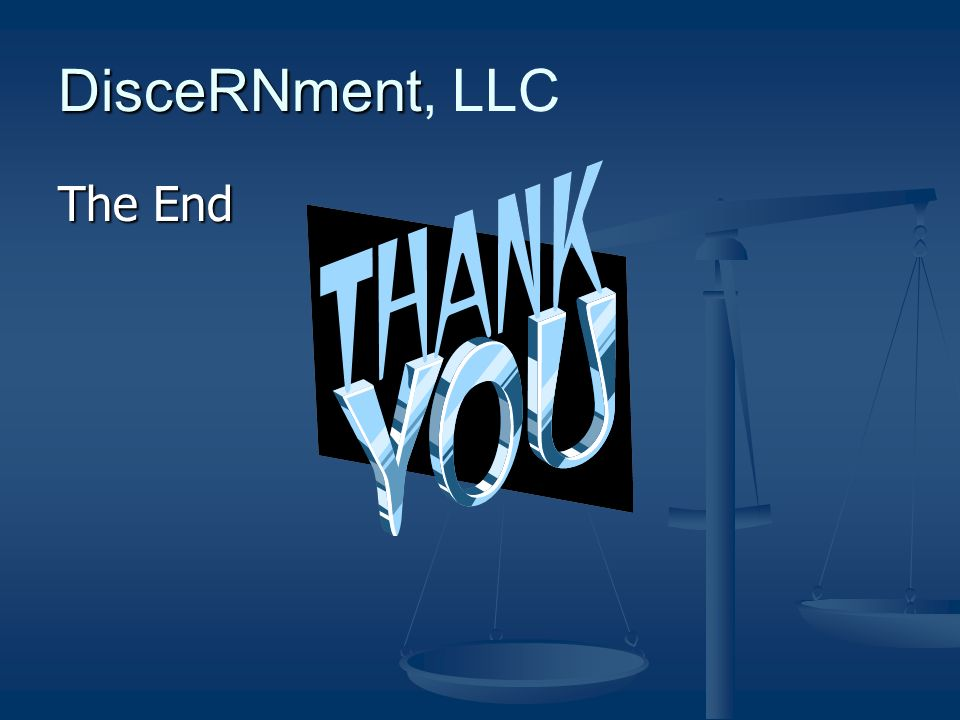 DisceRNment DisceRNment, LLC The End