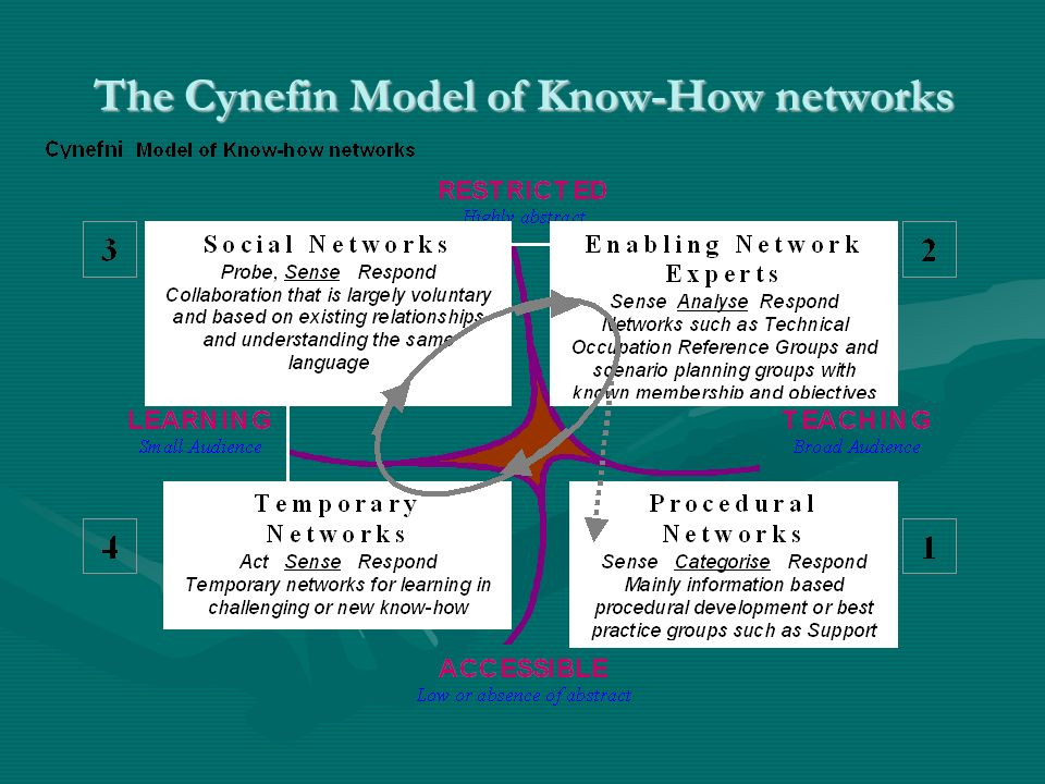 The Cynefin Model of Know-How networks