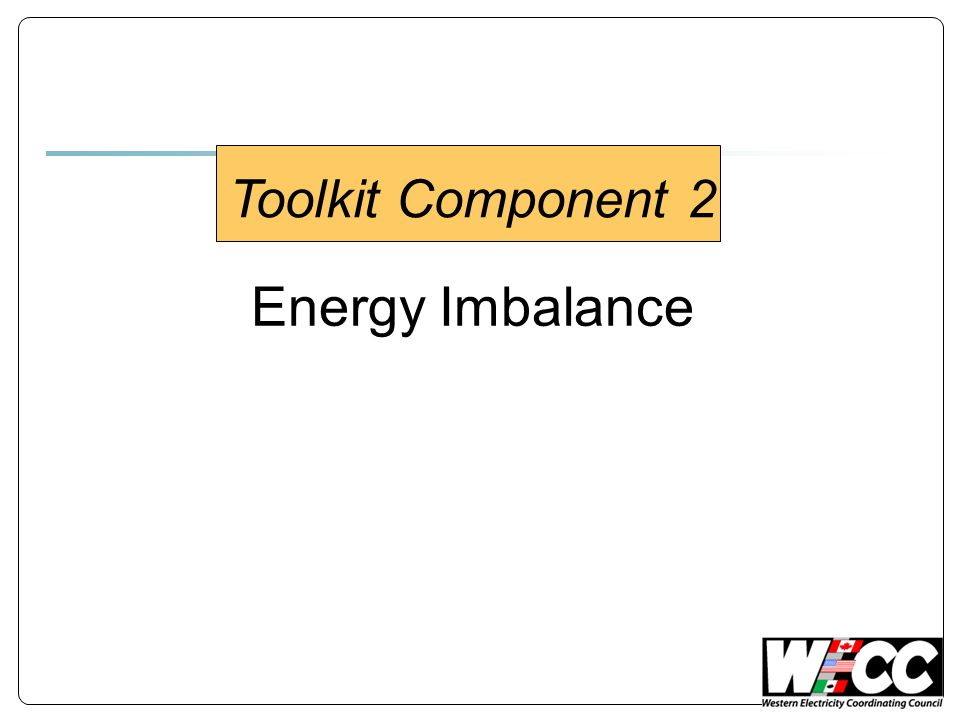 Energy Imbalance Toolkit Component 2
