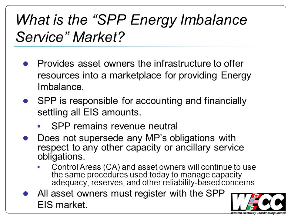 What is the SPP Energy Imbalance Service Market.
