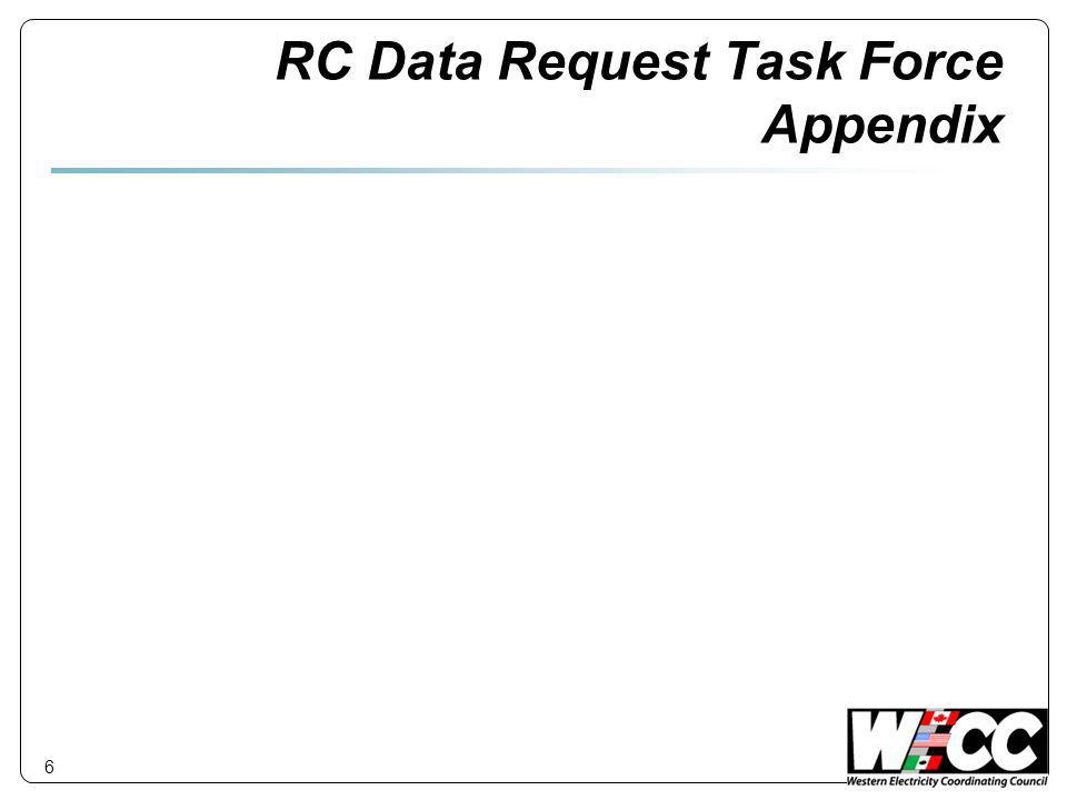 RC Data Request Task Force Appendix 6