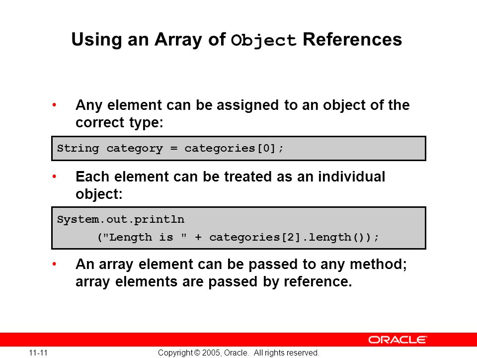 11-11 Copyright © 2005, Oracle. All rights reserved.