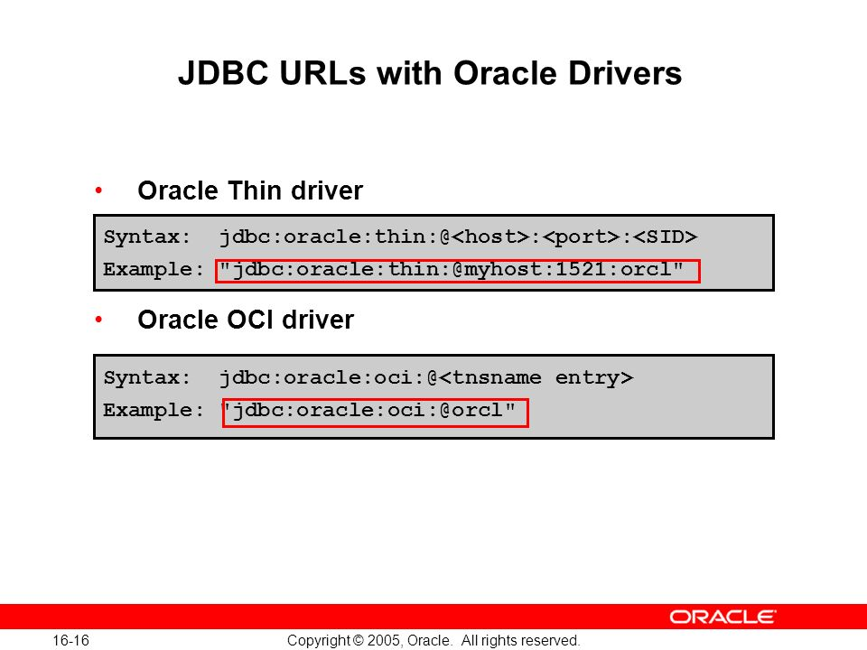 16-16 Copyright © 2005, Oracle. All rights reserved.