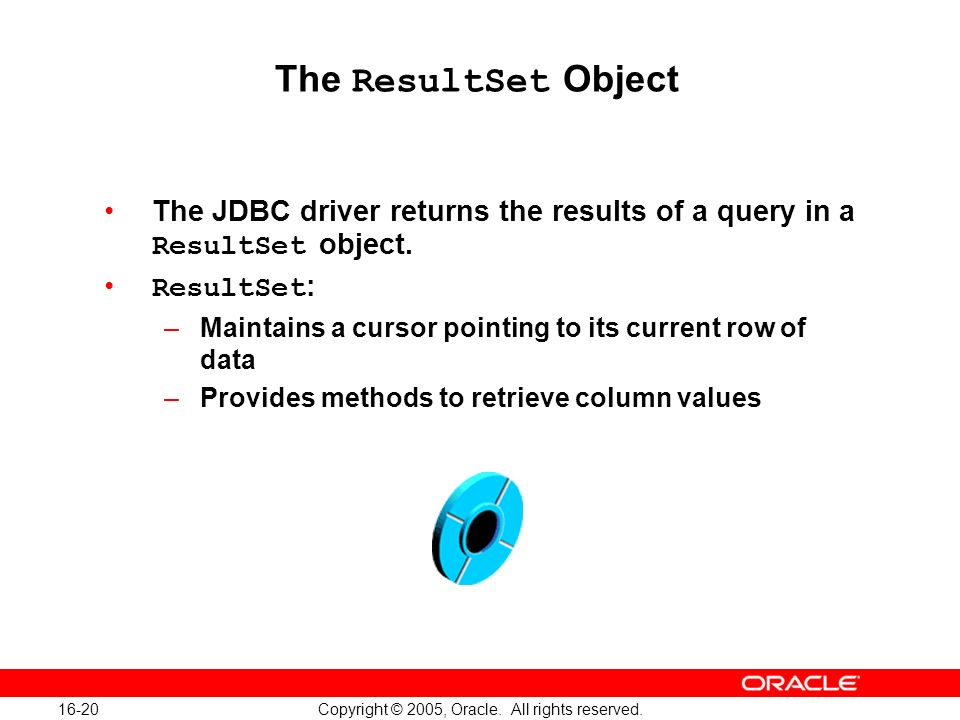 16-20 Copyright © 2005, Oracle. All rights reserved.