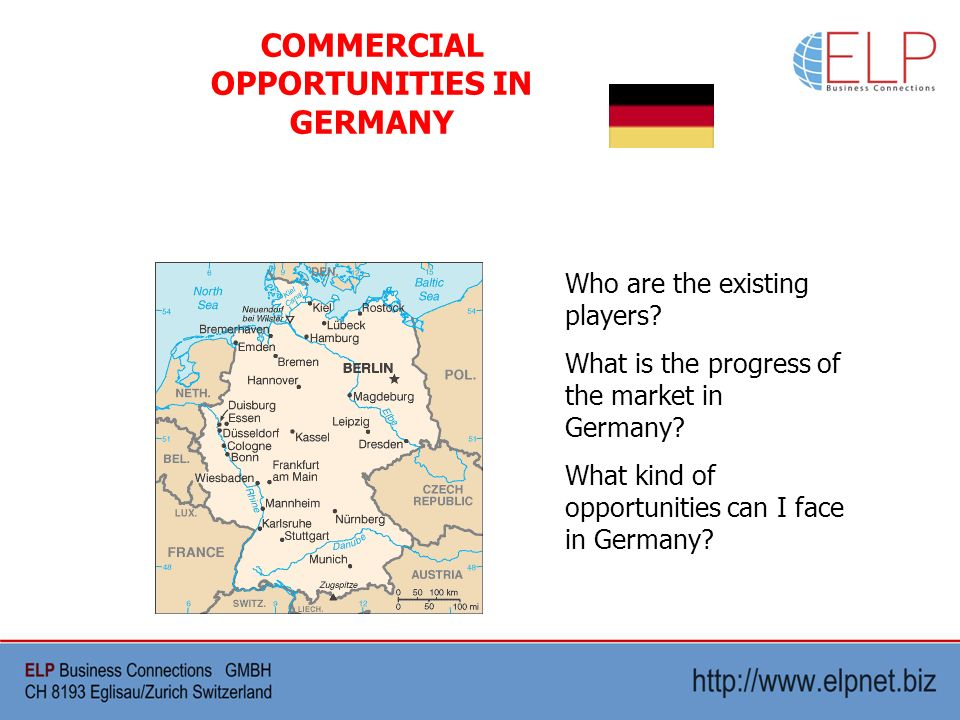 Who are the existing players. What is the progress of the market in Germany.