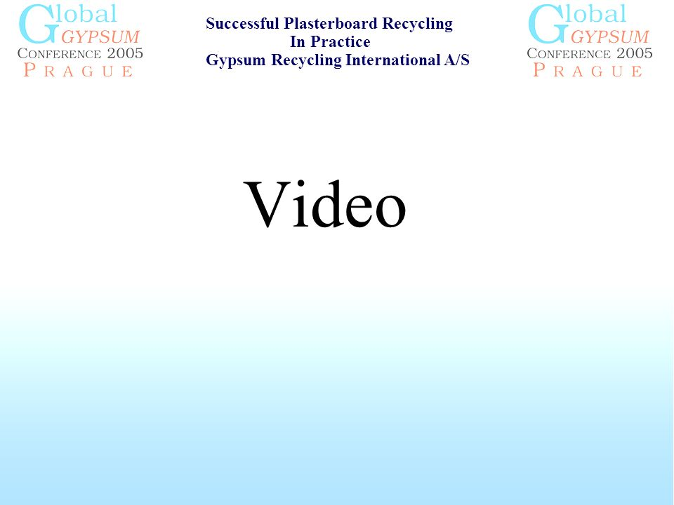 Video Successful Plasterboard Recycling In Practice Gypsum Recycling International A/S