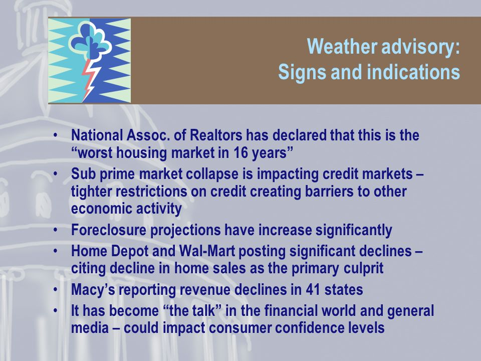 Weather advisory: Signs and indications National Assoc.