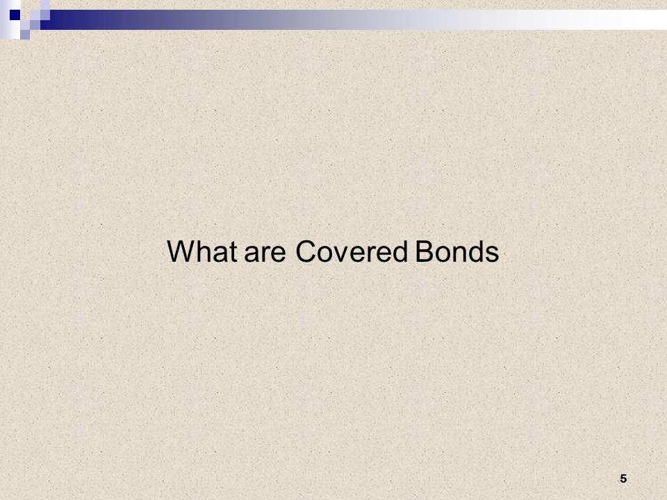 What are Covered Bonds 5