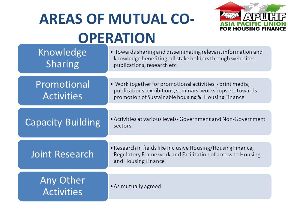 AREAS OF MUTUAL CO- OPERATION Towards sharing and disseminating relevant information and knowledge benefiting all stake holders through web-sites, publications, research etc.