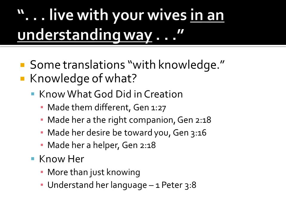 Some translations with knowledge. Knowledge of what.