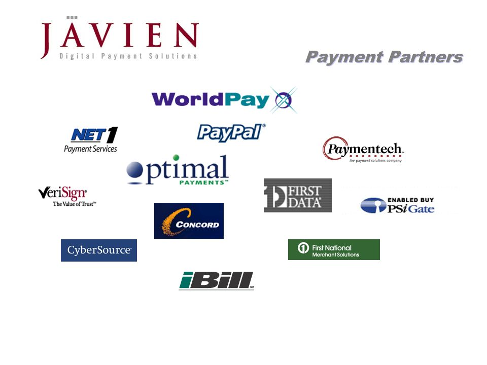 APR 2004 Commerce Solutions for Content Providers 18 Payment Partners