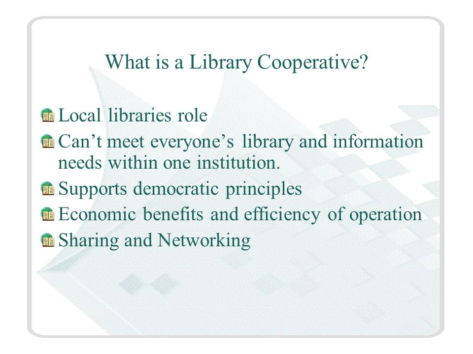 What is a Library Cooperative.
