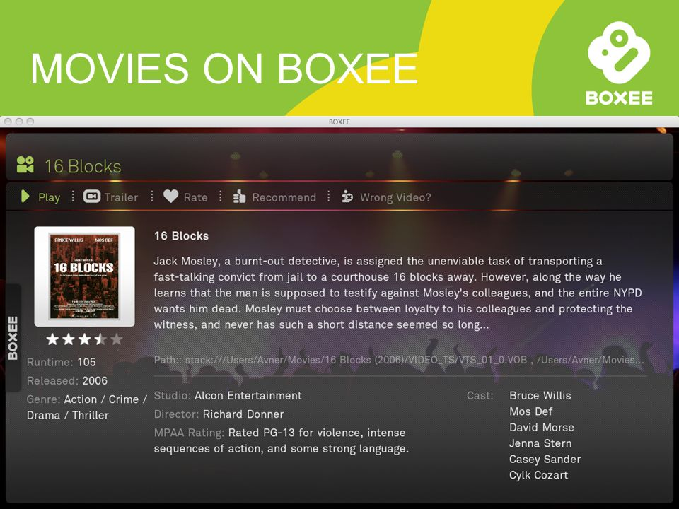 MOVIES ON BOXEE