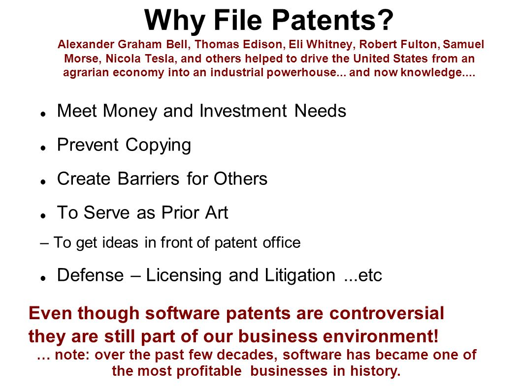 Why File Patents.
