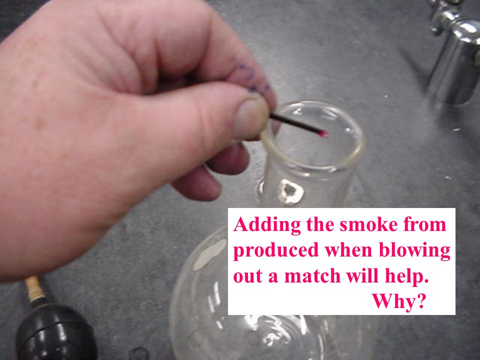 Adding the smoke from produced when blowing out a match will help. Why