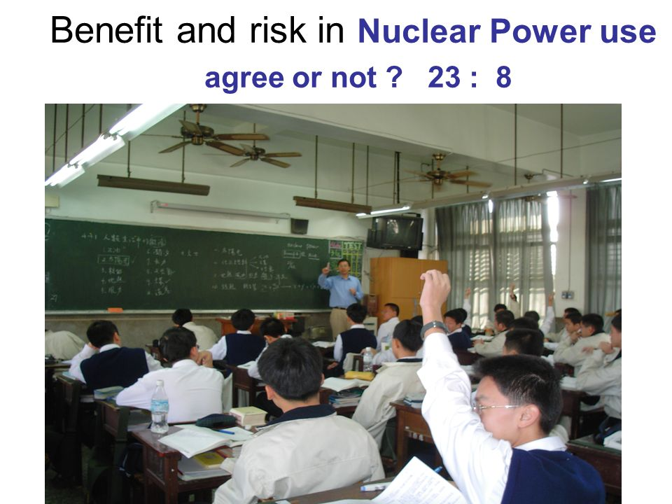 Benefit and risk in Nuclear Power use agree or not 23 : 8