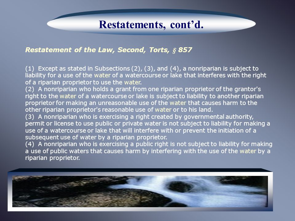 Restatements, contd.