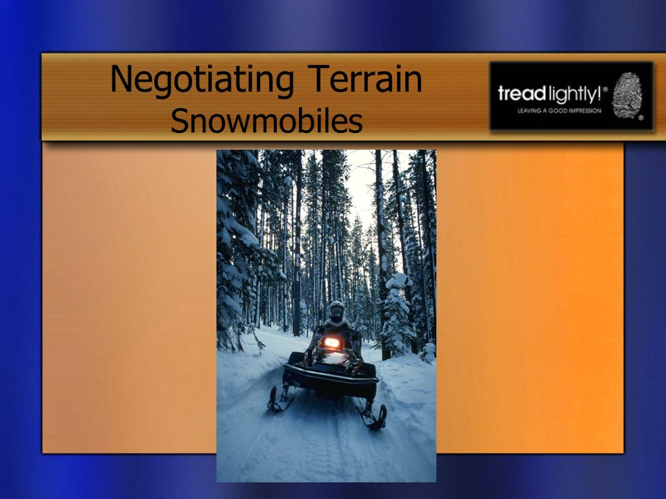 Negotiating Terrain Snowmobiles