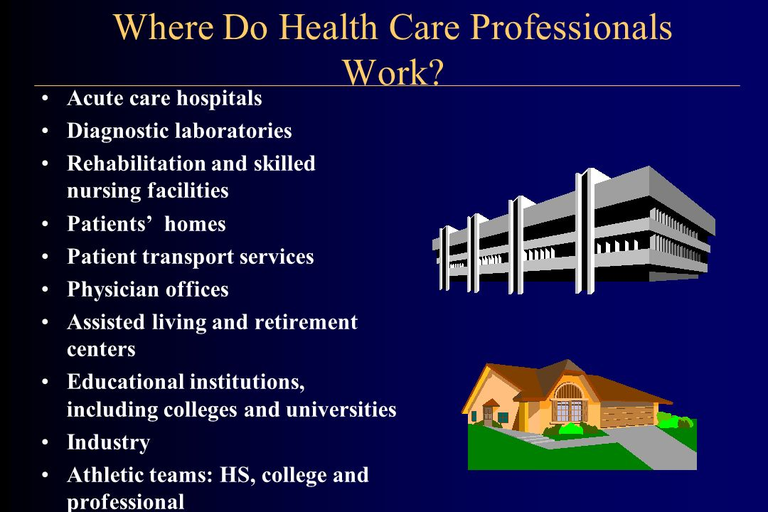 Where Do Health Care Professionals Work.