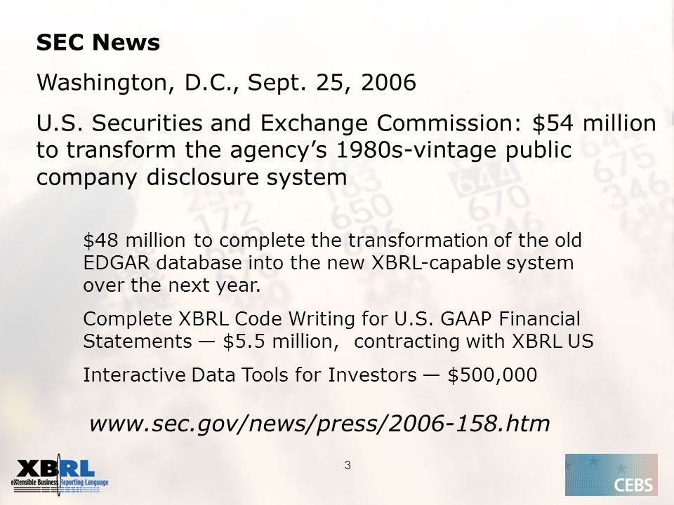 Application of the Supervisory Review Process CEBS CP03 | May SEC News Washington, D.C., Sept.