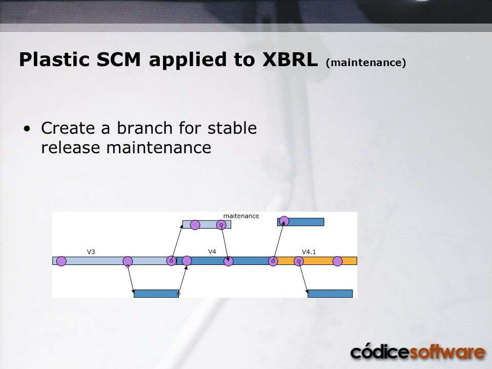 Plastic SCM applied to XBRL (maintenance) Create a branch for stable release maintenance