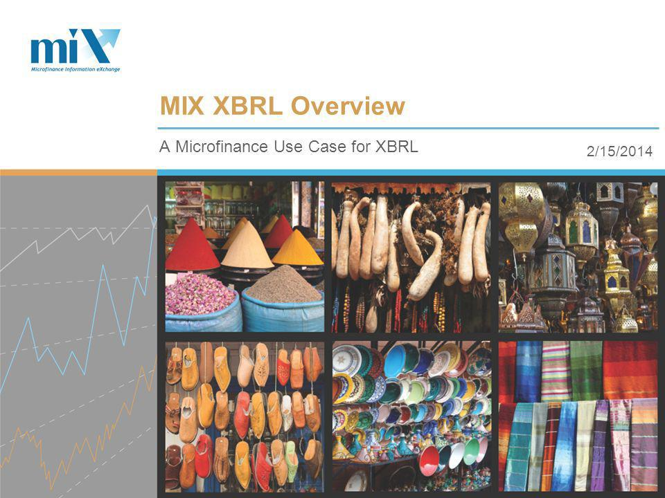 2/15/2014 A Microfinance Use Case for XBRL MIX XBRL Overview