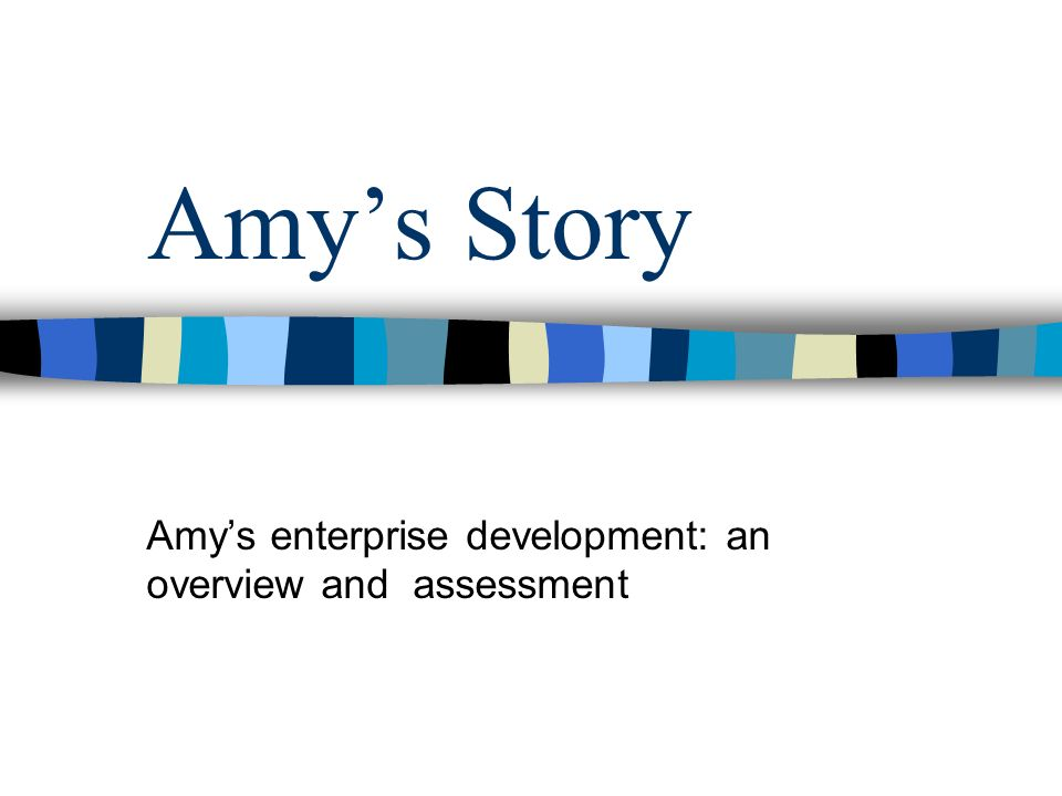 Amys Story Amys enterprise development: an overview and assessment