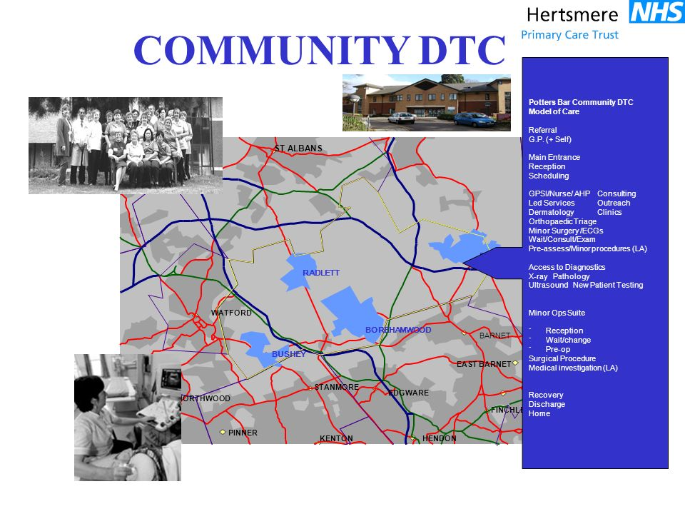 Potters Bar Community DTC Model of Care Referral G.P.