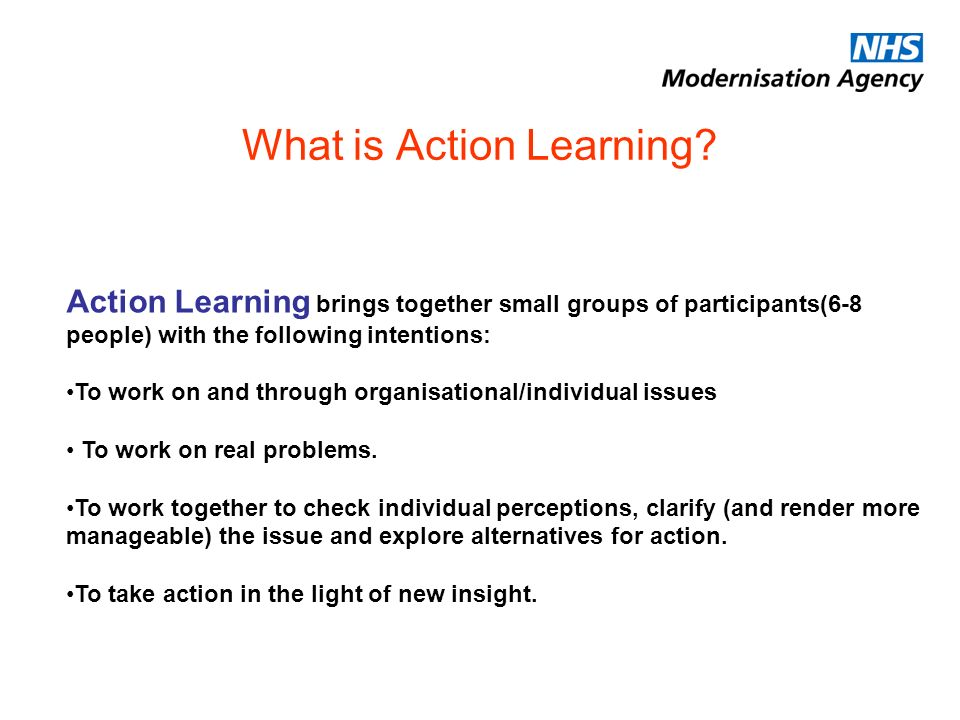 What is Action Learning.