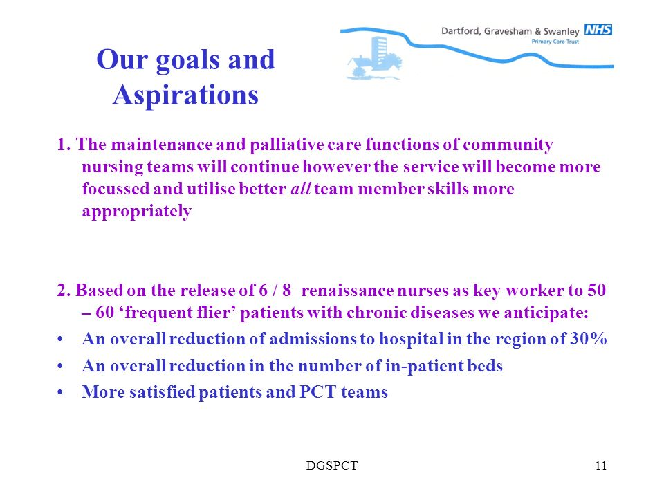 DGSPCT11 Our goals and Aspirations 1.