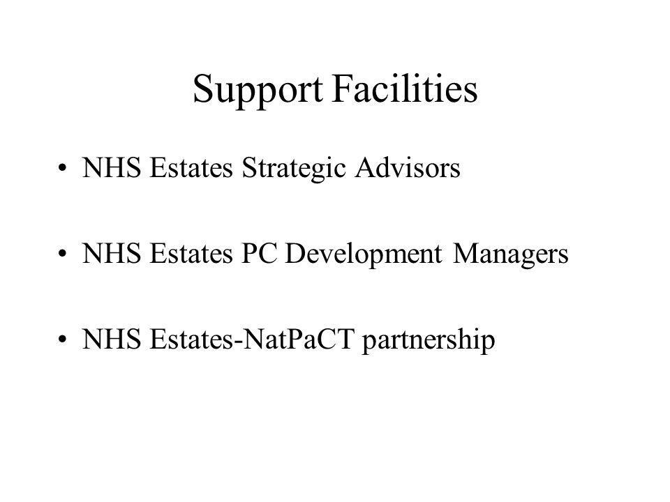 Support Facilities NHS Estates Strategic Advisors NHS Estates PC Development Managers NHS Estates-NatPaCT partnership