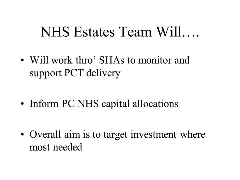 NHS Estates Team Will….