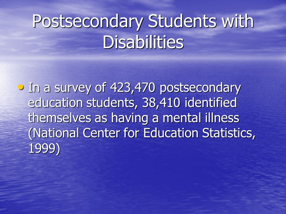 Accommodating students with psychiatric disabilities and the ada