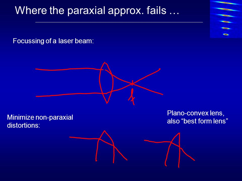 Where the paraxial approx.