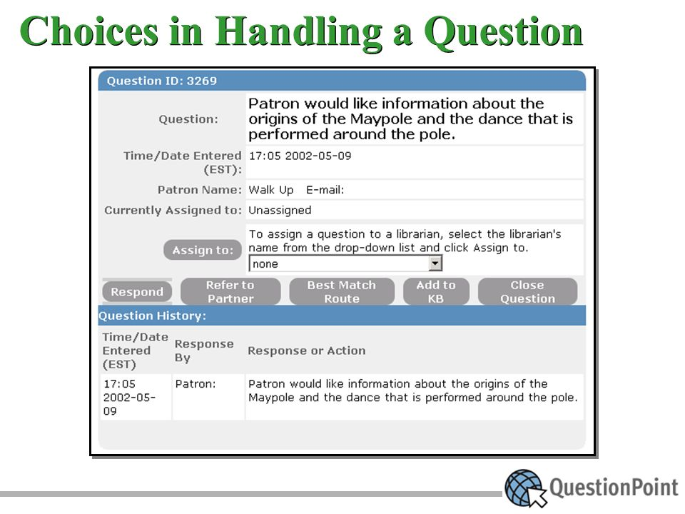 Choices in Handling a Question