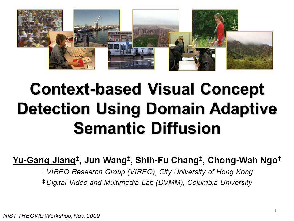 Context-based Visual Concept Detection Using Domain Adaptive