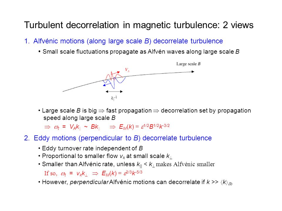 Turbulent decorrelation in magnetic turbulence: 2 views 1.