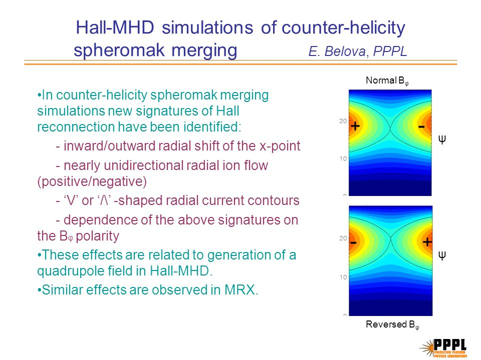 Hall-MHD simulations of counter-helicity spheromak merging E.