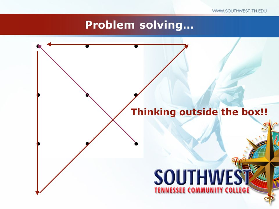 Problem solving… Thinking outside the box!!