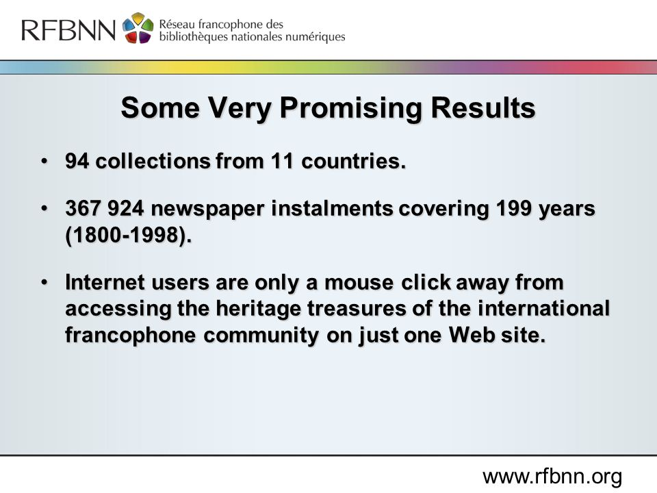 www.rfbnn.org 94 collections from 11 countries.94 collections from 11 countries.